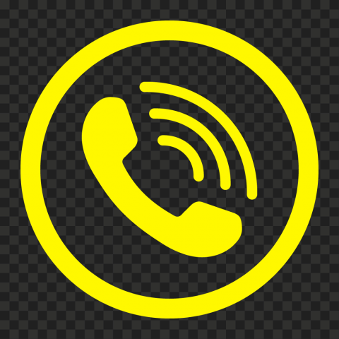 HD Yellow Round Circle Phone Icon PNG