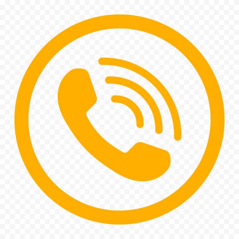 HD Orange Round Circle Phone Icon PNG