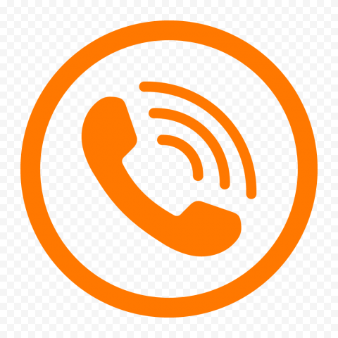 HD Dark Orange Round Circle Phone Icon PNG