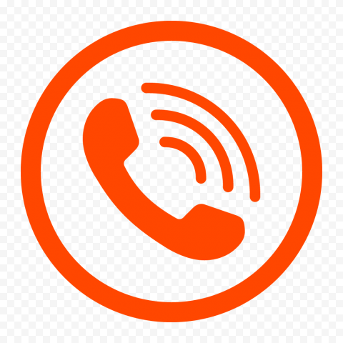 HD Round Circle Dark Orange Phone Icon PNG
