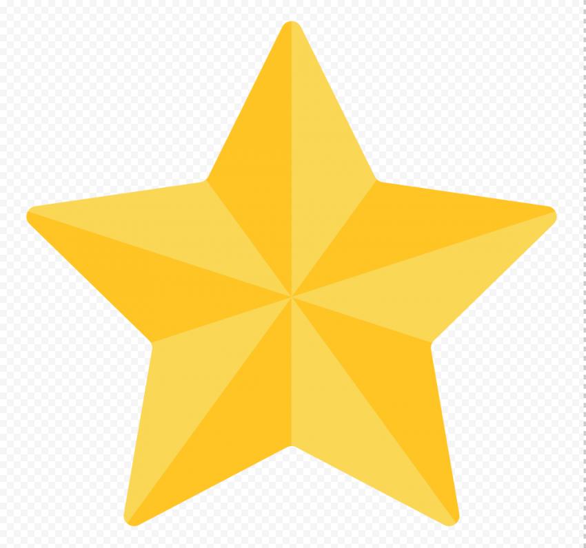 3D Gold Star Game Cartoon