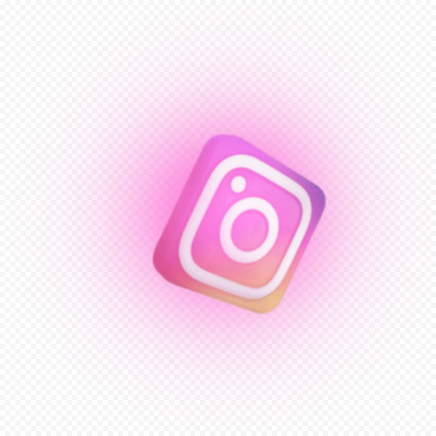 3D Instagram Logo Shadow Pink Animation