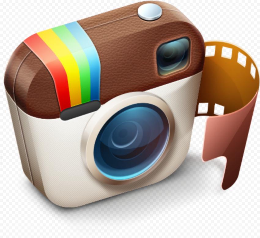 3D Instagram Old Logo Camera