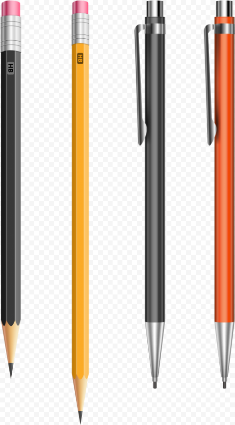 4 Kinds of Drawing Pencil PNG