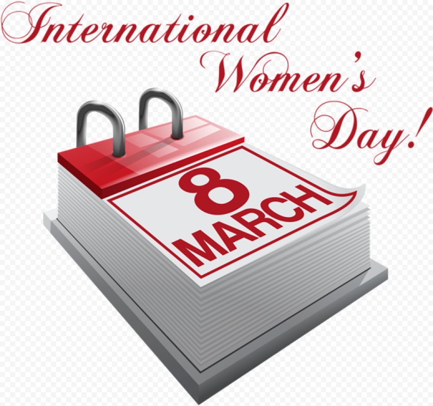 8 March Calendar 3D International Women'S Day
