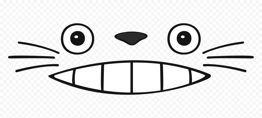 Animal Face Cat Funny Cartoon Outline