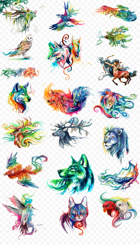 Animals Painting Watercolor Oil painting Clipart