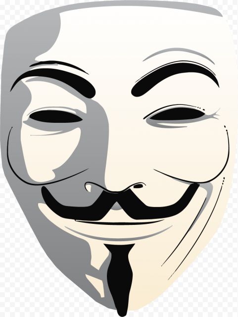 Anonymous Mask Vector Illustration Drawing