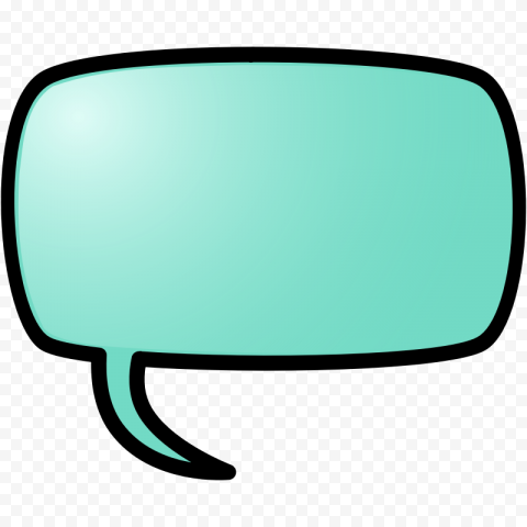 Aqua Speech Bubble Chat Message Cartoon Comic