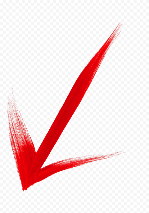 Arrow Brush Stroke Down Left Red Color PNG