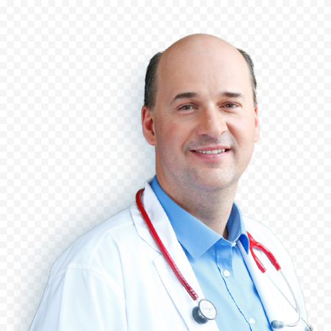 Bald Doctor Male With Stethoscope Healthcare