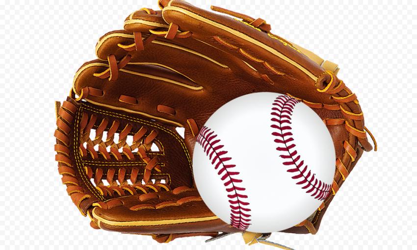 Baseball Glove Leather Brown Ball
