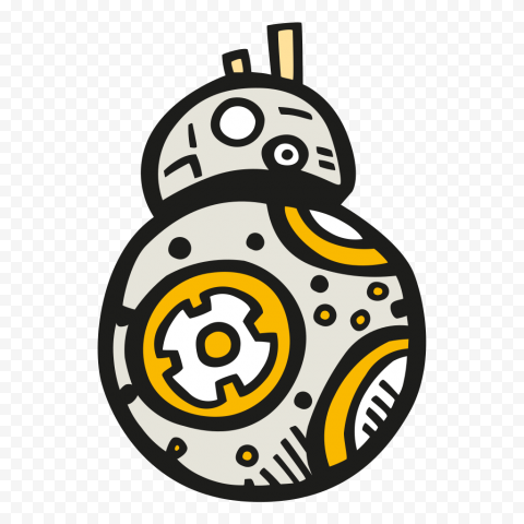BB 8 Robot Cartoon Illustration