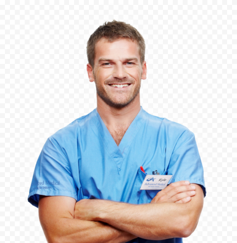 Beautiful Young Happy Doctor Male Emergency