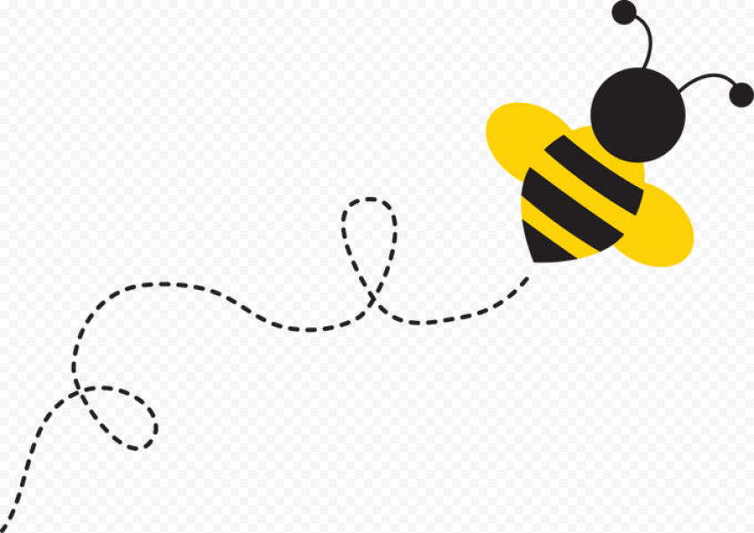 Bee Line Cartoon Illustration