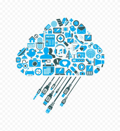 Big Data Computing Storage Cloud Illustration HD PNG