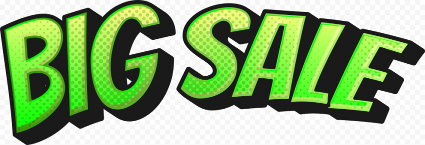 Big Sale green icon label logo png