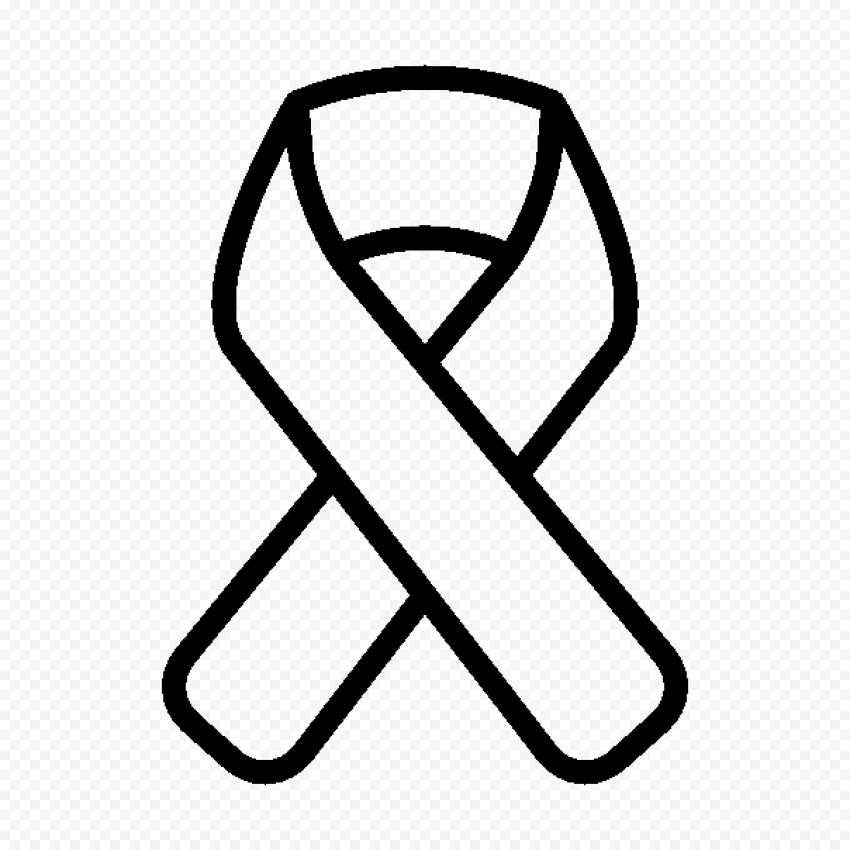 Black Awareness Breast Cancer Ribbon Icon FREE PNG
