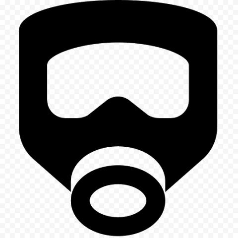 Black Icon Air Filter Safety Mask Respirator Gas