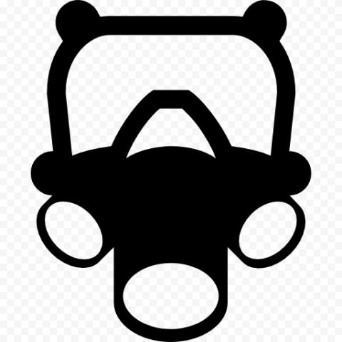 Black Icon Dust Mask Respirator Gas Safety