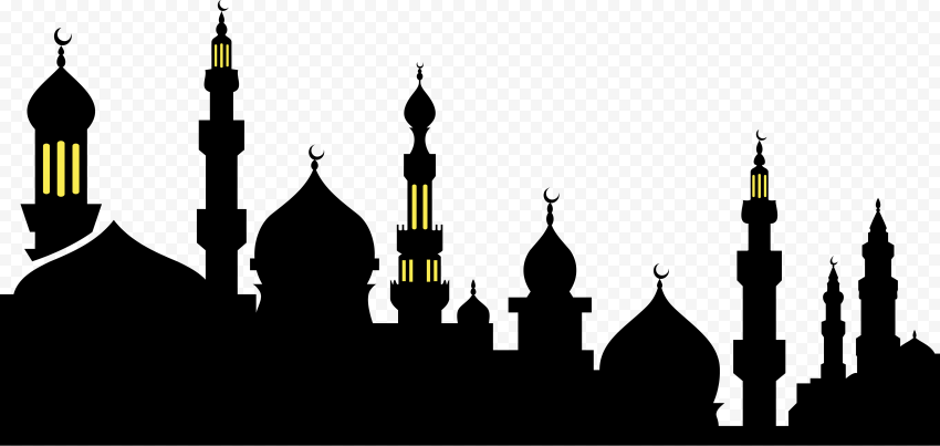 Black Islamic Mosque Silhouette Religion Ramadan