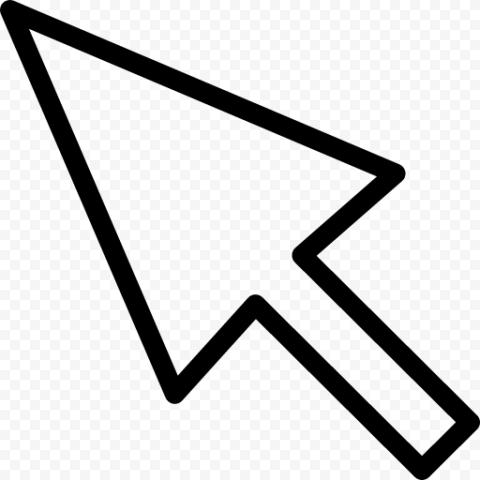 Black Outline Cursor Arrow