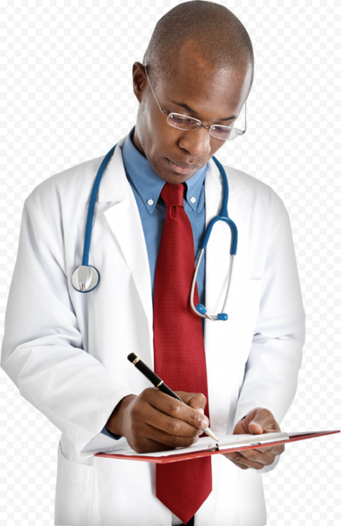 Black Professional Doctor Male Stethoscope