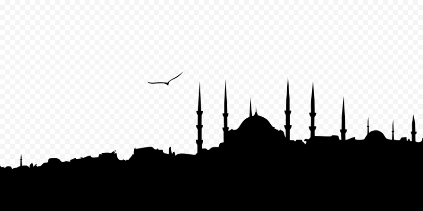 Black Ramadan Mosque Islamic Castle Silhouette
