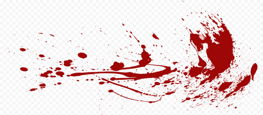 Blood Splash Effect Transparent Background