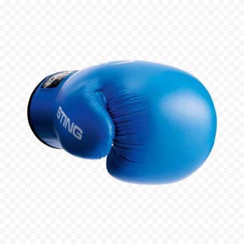 Blue Boxing Glove Box Kickboxing Muay Thai