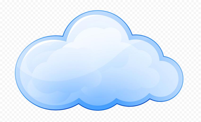 Blue Cartoon Illustration Cloud Transparent PNG
