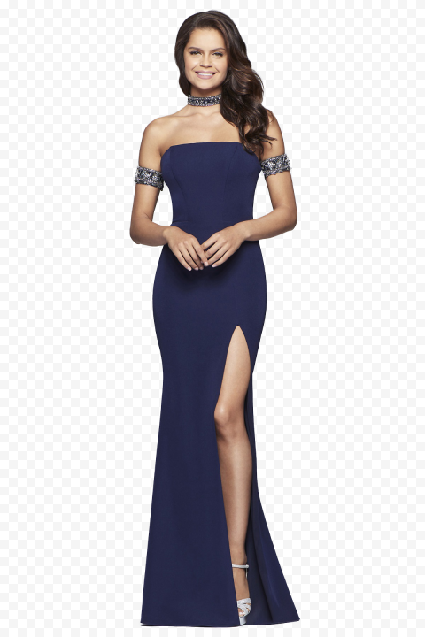 Blue Evening Gown Dress Wedding Party Event