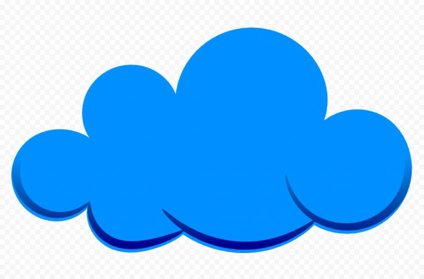 Blue Illustration Cloud Cartoon PNG