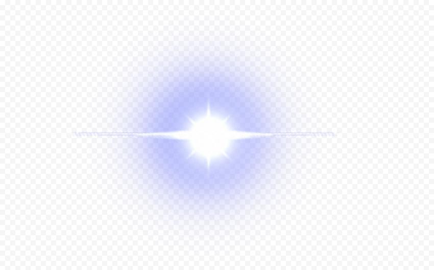 Blue Lens Flare Light Shine Effect