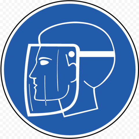 Blue Sign Protection Full Face Shield Safety