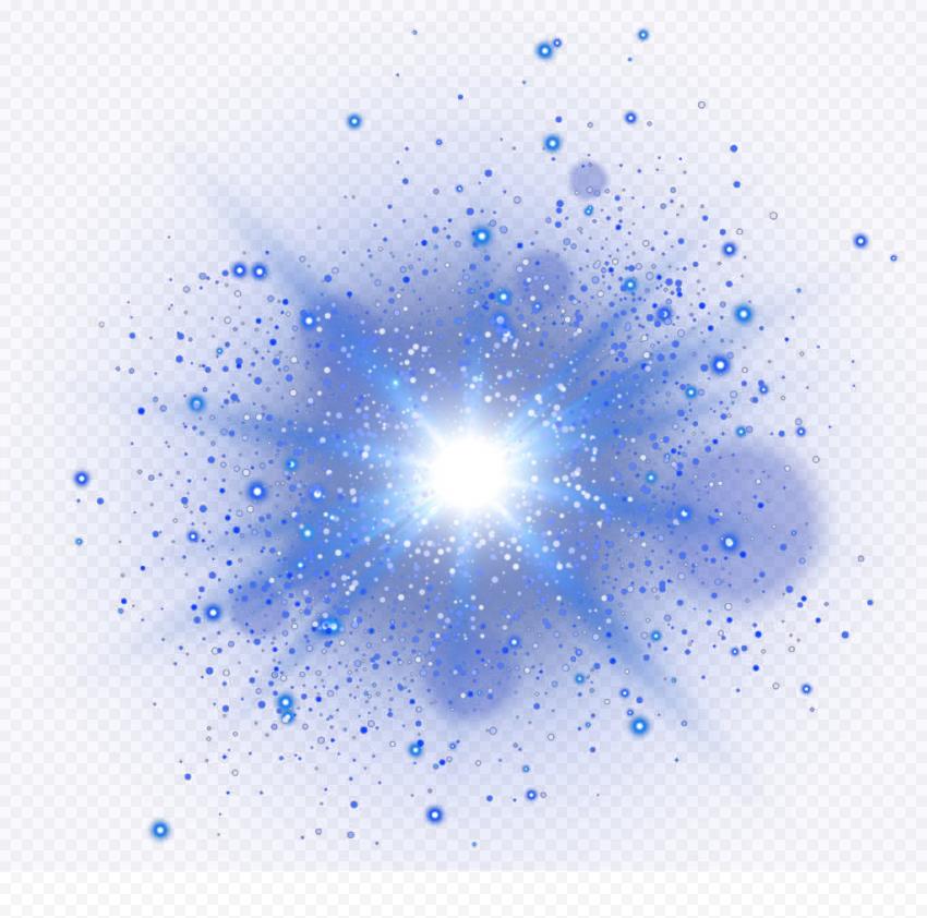 Blue Space Splash Effect Light Clipart Bright