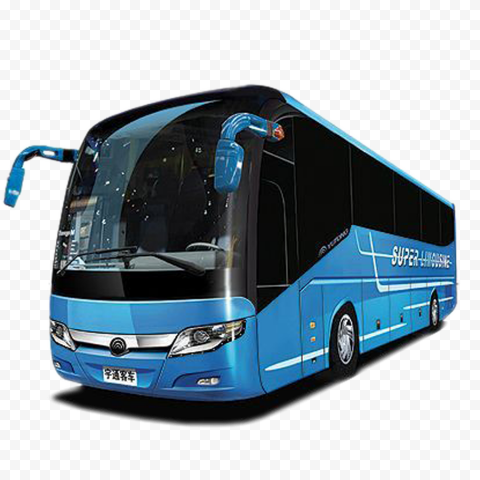 Blue Travel Bus