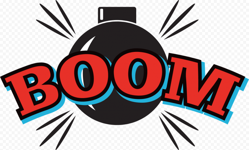 Boom Stickers Word Expression Comic Cartoon
