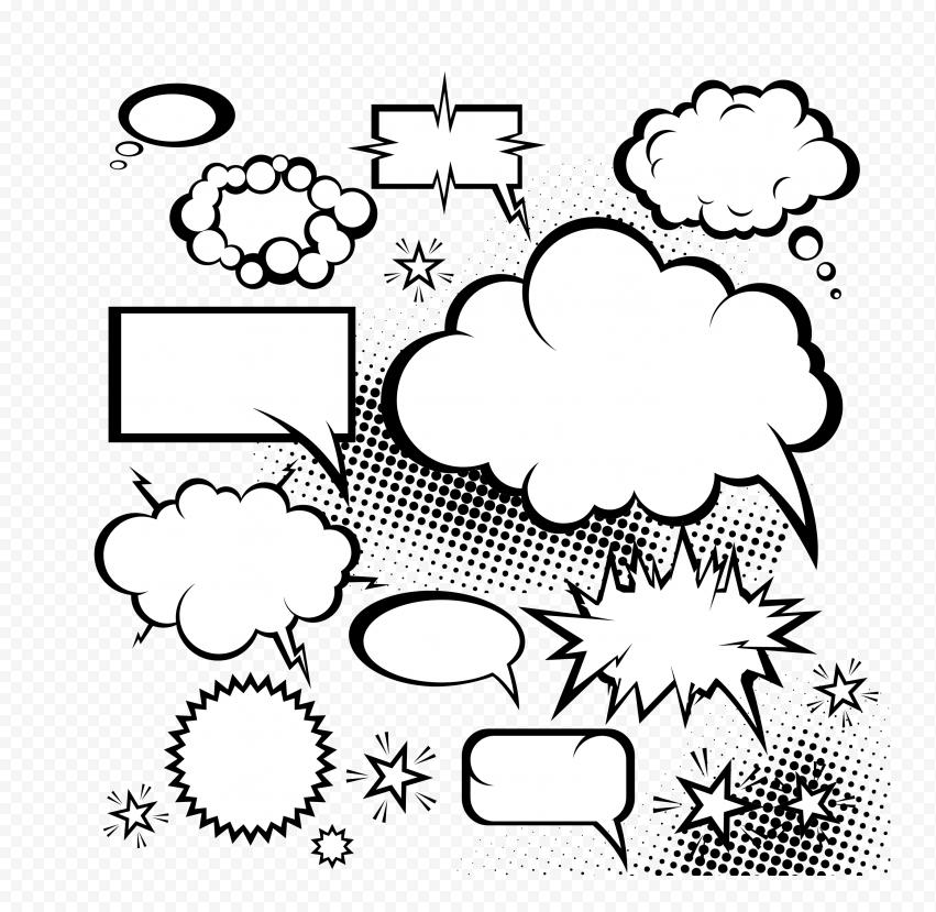 Bubbles Thought Comic Book Pop Art Clipart