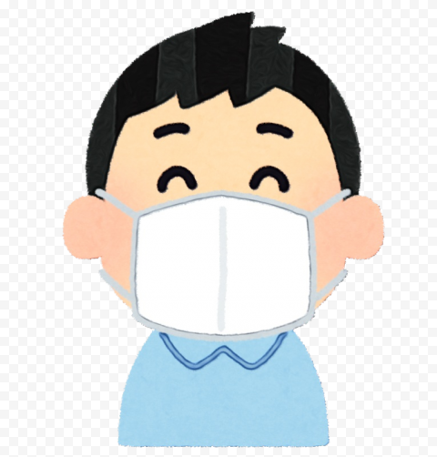 Cartoon Child Wear White Surgical Mask