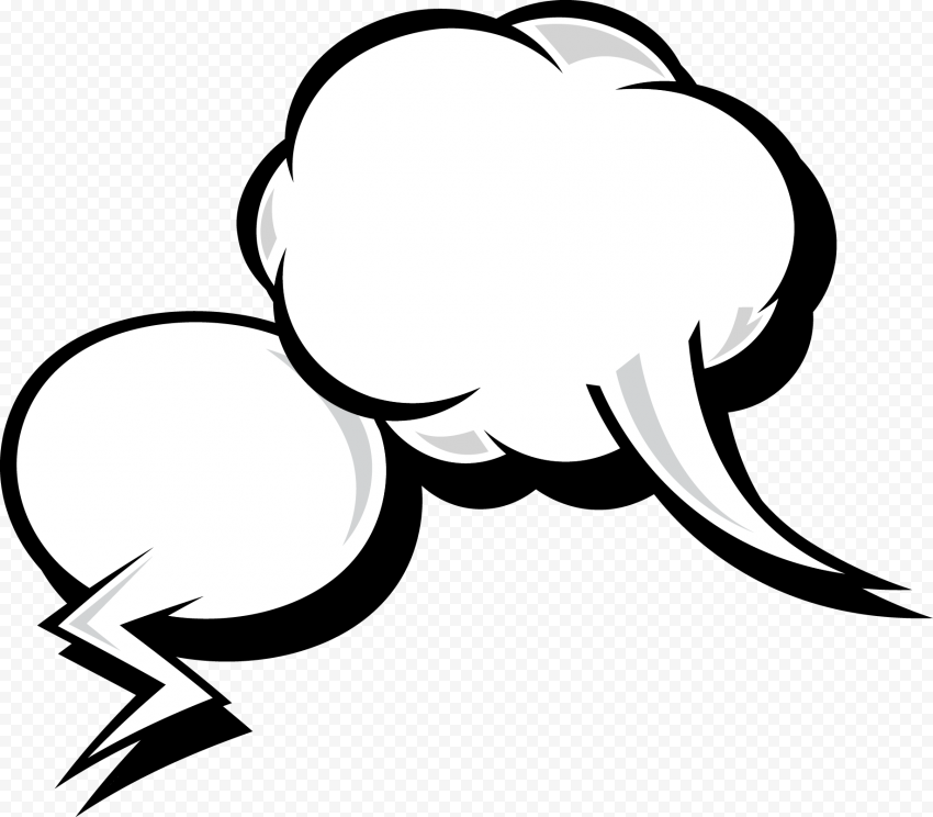 Cartoon Cloud Messaging Thought Bubble Thinking