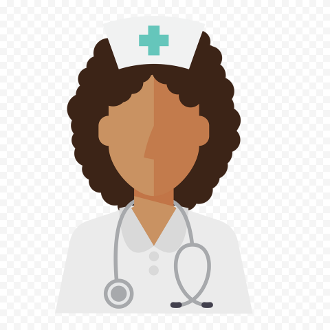 Cartoon Female Nurse Icon Healthcare Clipart