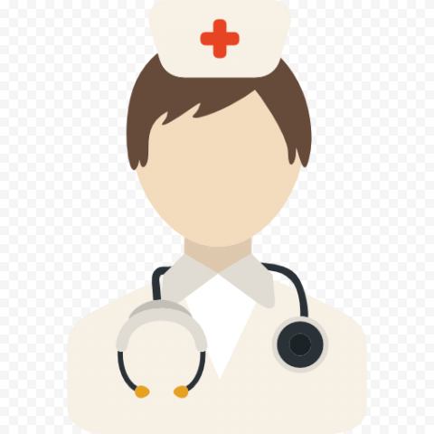 Cartoon Female  Nurse Stethoscope Icon Clipart