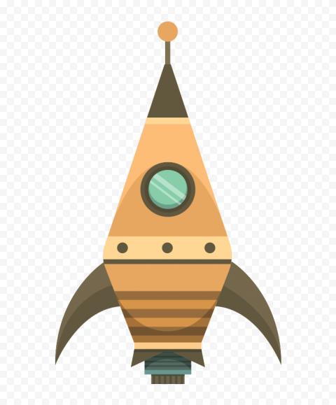 Cartoon Flight Spaceship Rocket clipart