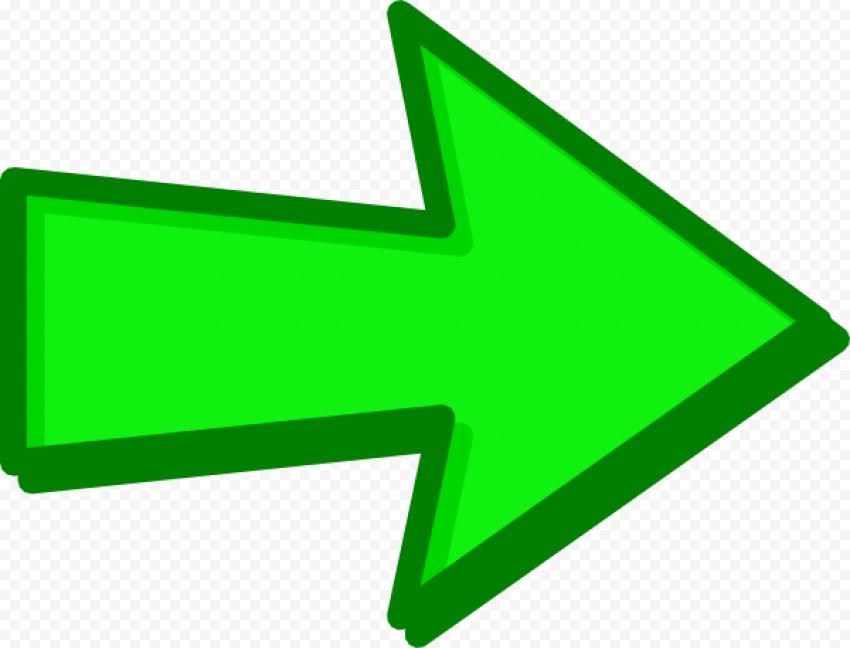 Cartoon Green Arrow Transparent