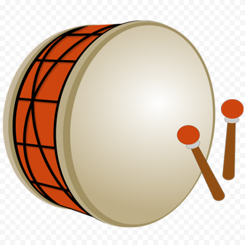 Cartoon Ramadan Drum Icon Illustration
