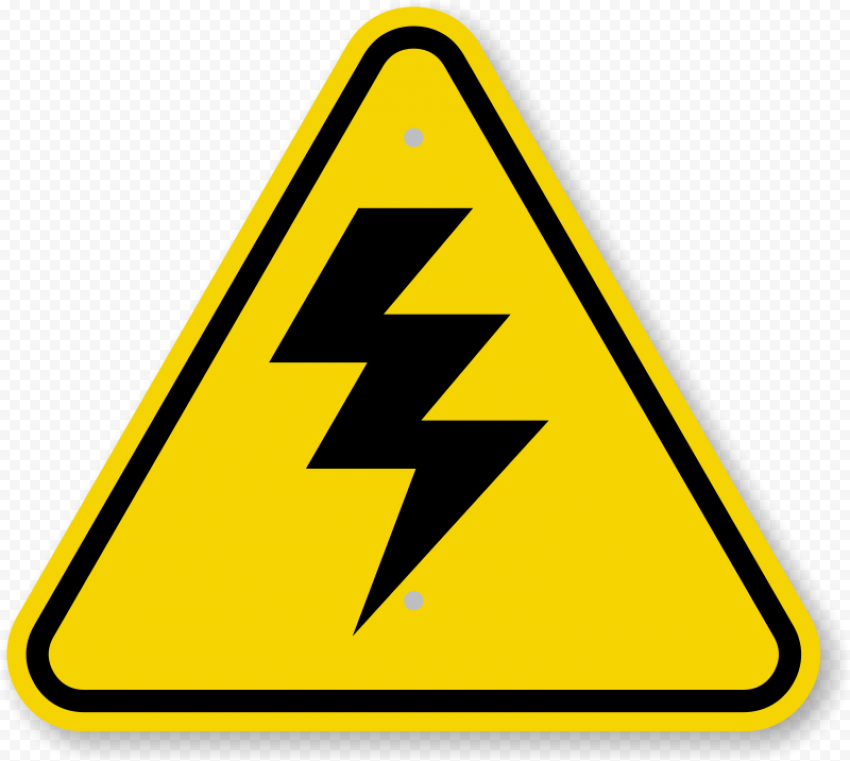Caution Electricity Electric Electrical Shock Sign