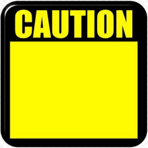 Caution Notice Yellow Blank Empty Sign Safety