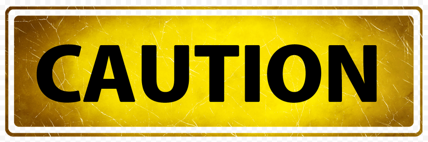 Caution Rectangle Sign Road Traffic Driving