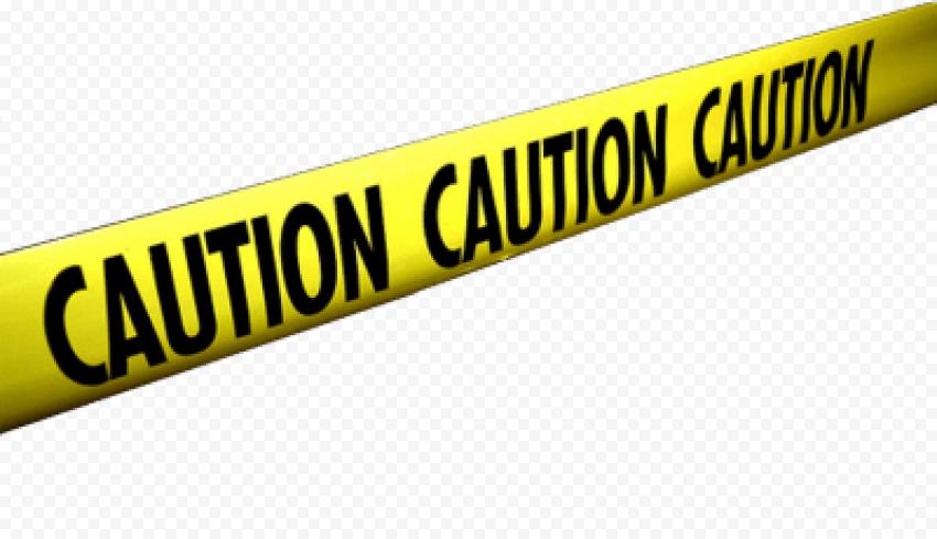 Caution Tape Yellow Black Warning